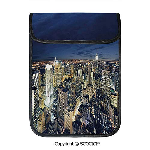- SCOCICI Tablet Sleeve Bag Case,Modern Cityscape After Sunset Manhattan New York USA Architectural View,Pouch Cover Cases for iPad Pro 12.9 in and Any Tablet
