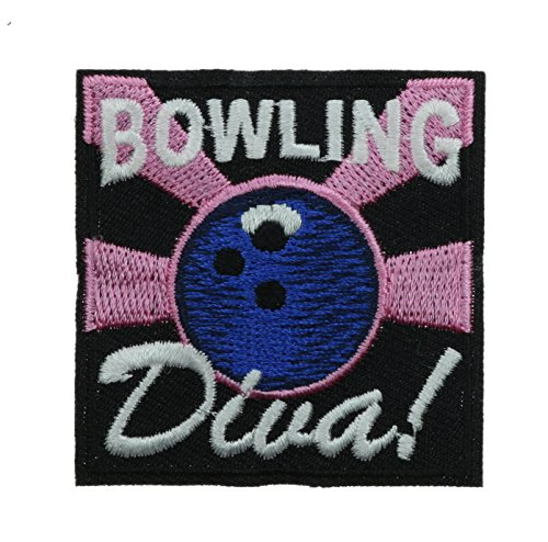"""Games IRON ON EMBROIDERED PATCH /""""BOWLING DIVA/"""" Bowling Recreation"""
