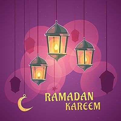 Wallmonkeys Ramadan Lanterns Illustration Wall Mural Peel and Stick Graphic WM368326