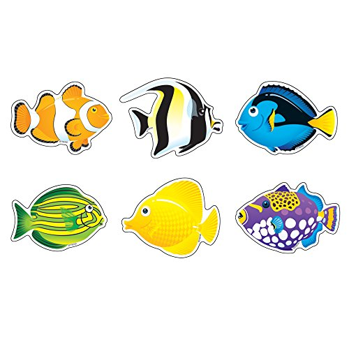 Fish Cut Out (TREND enterprises, Inc. Fish Mini Accents Variety Pack, 36)