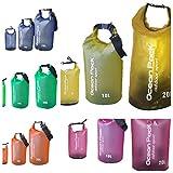 MD Concepts Waterproof Dry Bag Set; 3-Bag Set 2L / 10L / 20L Perfect for Camping, Hunting, Fishing, Kayak, Canoe