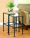 Coaster Transitional Black 2-Piece Nesting Table Set