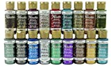 apple barrel acrylic paint set - DecoArt AMERICANA DAZZLING METALLICS FAN FAVORITES SAMPLER SET