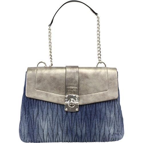 GUESS Women's Keegan Shoulder Bag Denim Handbag