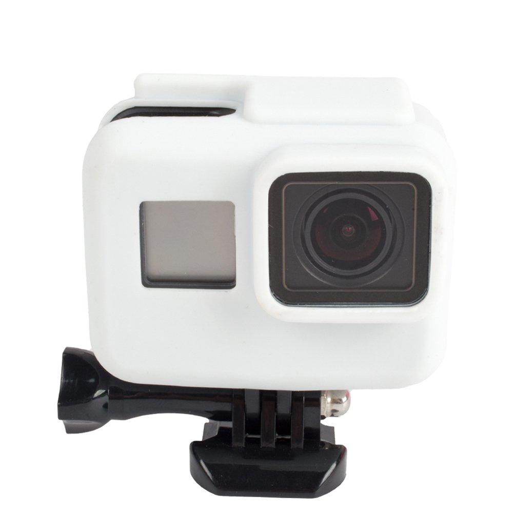 LEDMOMO Estuche Protector de Silicona para C/ámara GoPro Hero5 Blanco