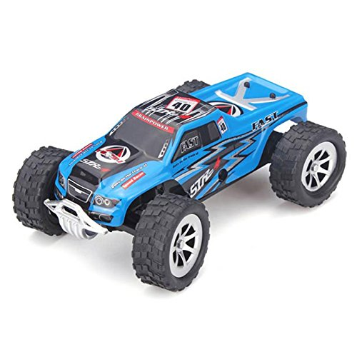 Car WLToys A999 1:24 RC Car 25KM/H 2.4G White Ready-To-GoRemote Control Car Remote Controller Battery Charger (Blue)