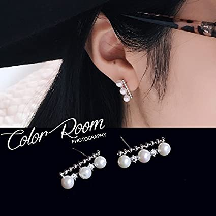 cb4549464 Image Unavailable. Image not available for. Color: Korea imports same  paragraph Song Hye Kyo s925 sterling silver earrings elegant ...