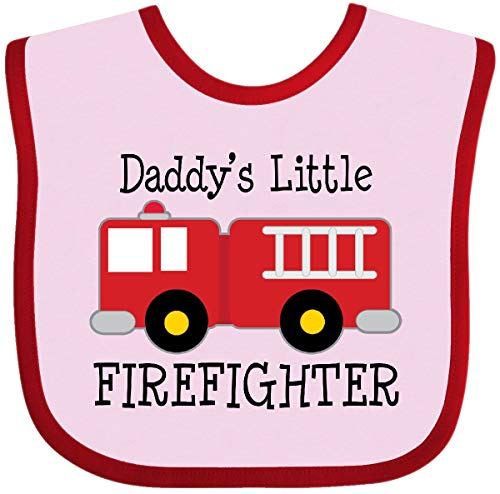 Little Firefighter Baby Bib Pink and Red 18a48 ()