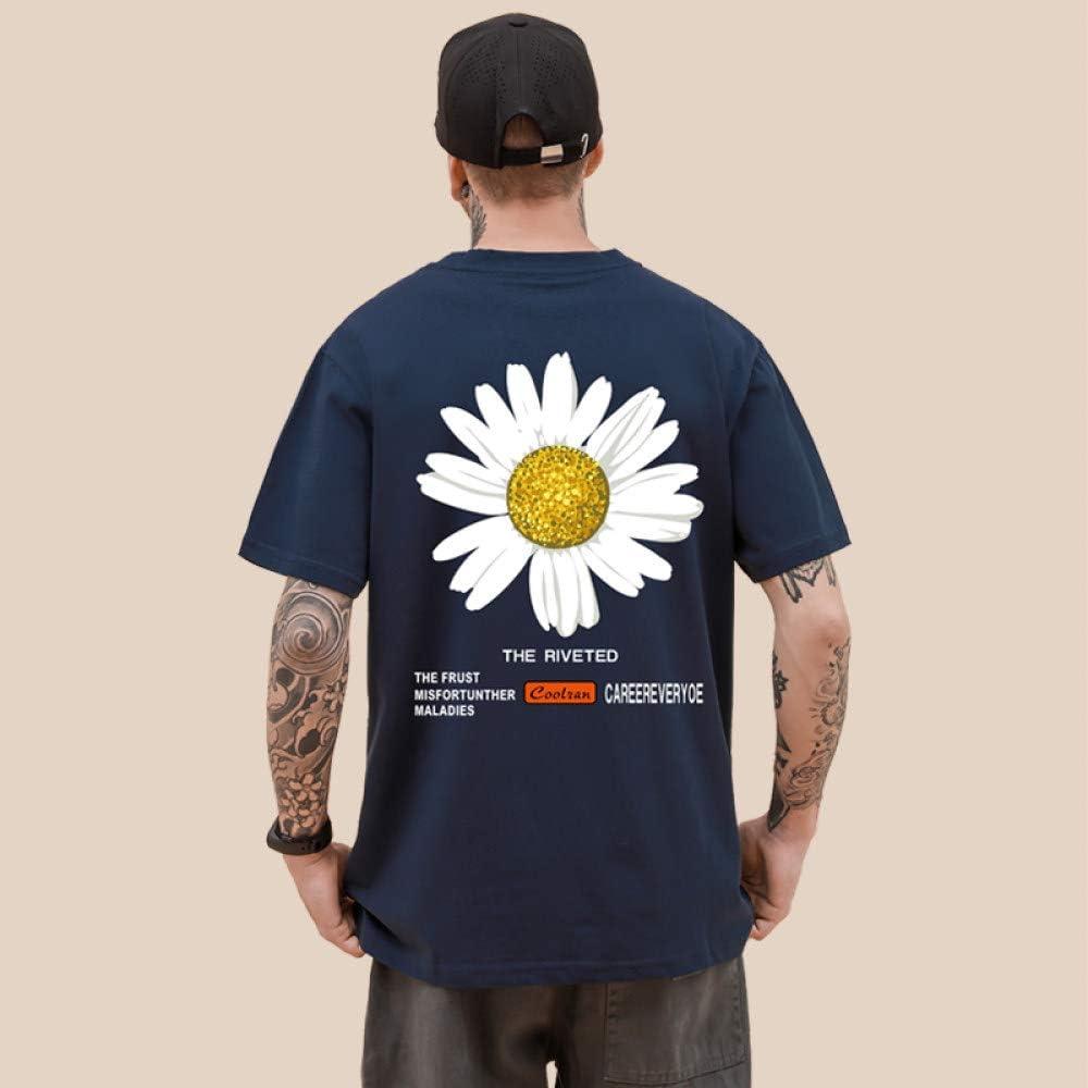 Camisetas para Hombre,Hipster Camisetas De Manga Corta De Gran Tamaño Camisa con Estampado De Margaritas Unisex Camiseta Tops Casual Harajuku Streetwear Estilo,Regalo para Marido Adolescente: Amazon.es: Deportes y aire libre
