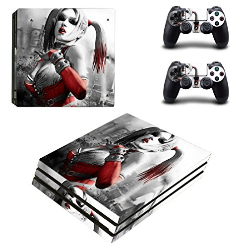 Adventure Games – PS4 PRO – Harley Quinn – Playstation 4 Vinyl Console Skin Decal Sticker + 2 Controller Skins Set