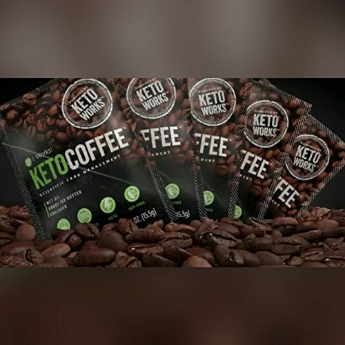 It Works Keto Coffee, Gift Bag with 5 individual instant coffee packets with Grass-fed butter and Medium chain Triglycerides (MCTs)