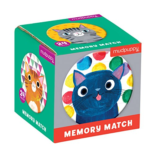 Mudpuppy 9780735355750 Cat's Meow Mini Memory Matching Game, Ages 3 to 8, Multicolor