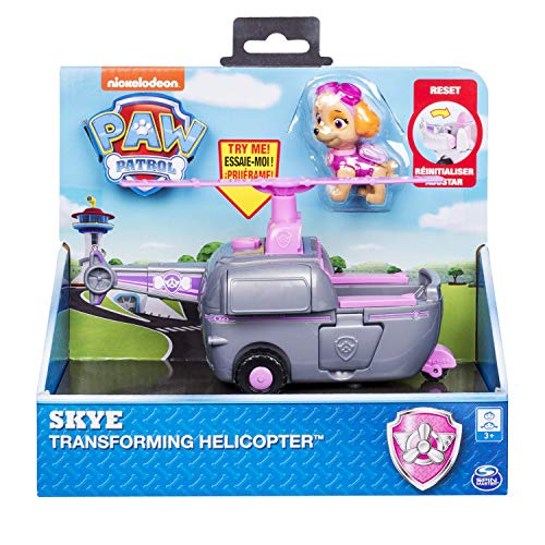 Paw Patrol, Skye's Transforming Helicopter with Flip-Open Turbines, for Ages 3 & Up