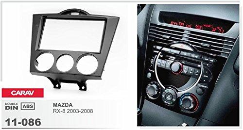 CARAV 11-086 Cache de radio double Broche pour Mazda RX-8 avec le manuel climatisation