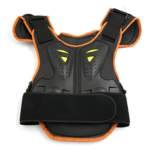 uxcell Black Orange Child Kid Chest Vest Guard Protector Body Armor Gear for Motorcycle by uxcell