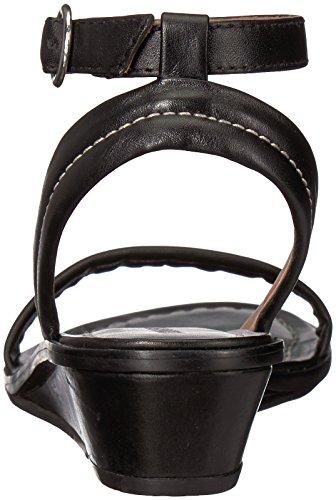 Bernardo Womens Catherine Wedge Sandal Black Antique Calf 3nqS8tvVv6
