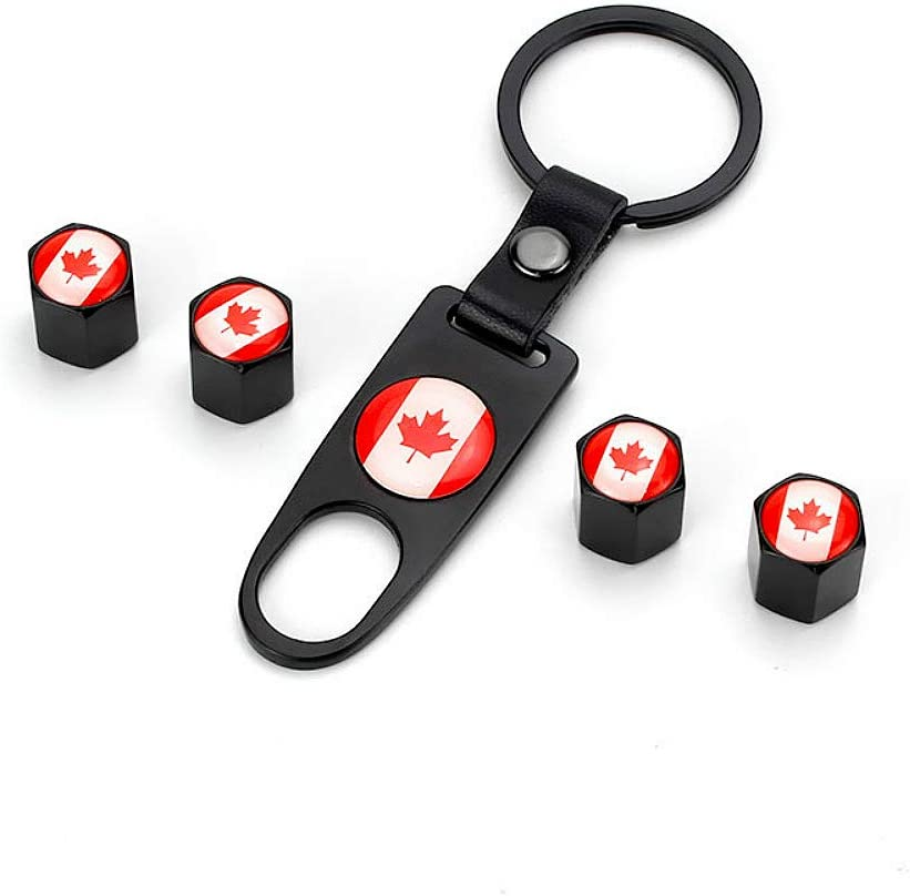 Canadian Flag Valve Stem Caps Set of 4 We Donate Part of Every Sale Towards Helping Our Canadian Veterans