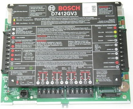 BOSCH - RADIONICS D7412GV3 Commercial Protected Premises Control Panel