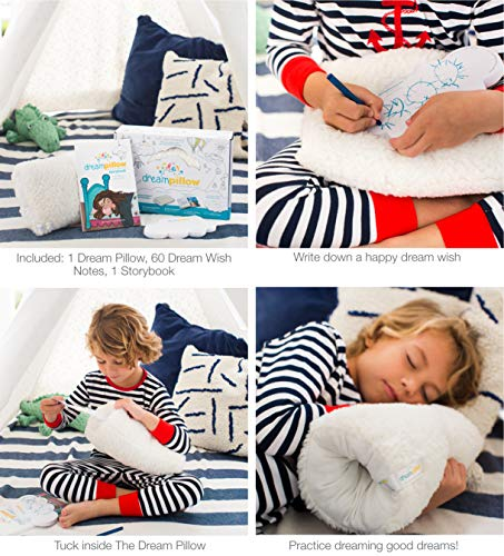 The Dream Pillow 2 Pack, a Fun Super Soft Plush Toy Pillow You Can Snuggle. Promotes Better Sleep Routine. Bundle Includes Pillow, Storybook and 60 Dream Wish Notes!
