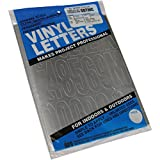 "Graphic Products Permanent Adhesive Vinyl Letters and Numbers (160/pkg), 3"", Silver"