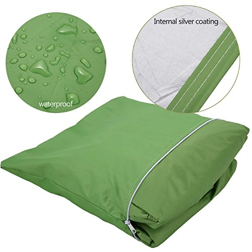 Cosway Furniture Set Covers, 106.3 x 70.9 x 35.0inch Patio Furniture Cover Water Resistant Durable Outdoor Table and Chair Cover Rectangle (Green) by Cosway (Image #5)