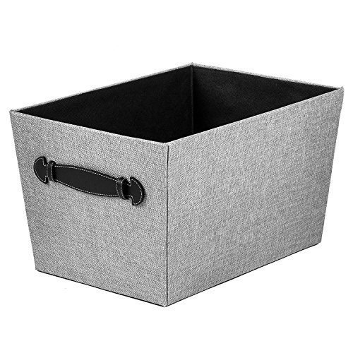 Creative Scents Fabric Decorative Storage Basket (Gray Birch)