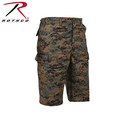 Rothco Longer Style BDU Short, Woodland Digital Camo, X-Large (Shorts Woodland Camo)