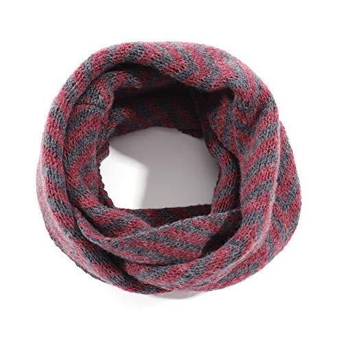 Kids Winter Warm Knit Scarf Toddler Girls Soft Infinity Scarf Red