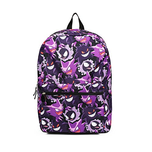 Pokemon Gengar Evolution All over Print Purple Backpack School Bag -