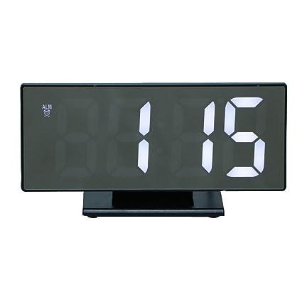 Homyl Reloj Sobremesa Multifuncional con Pantalla Pantalla LED, Espejo Digital Electrónico, Despertador - A
