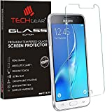 TECHGEAR Screen Protector for Galaxy J3 2016 (SM-J320 Series) - GLASS Edition Genuine Tempered Glass Screen Protector Guard Cover Compatible with Samsung Galaxy J3 2016