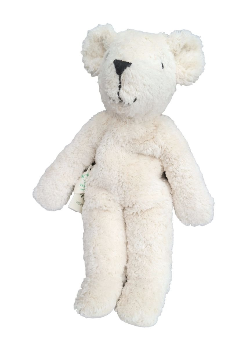 Senger Stuffed Animals - Teddy Bear - Handmade 100% Organic Toy - 12 Inches Tall - White by Senger