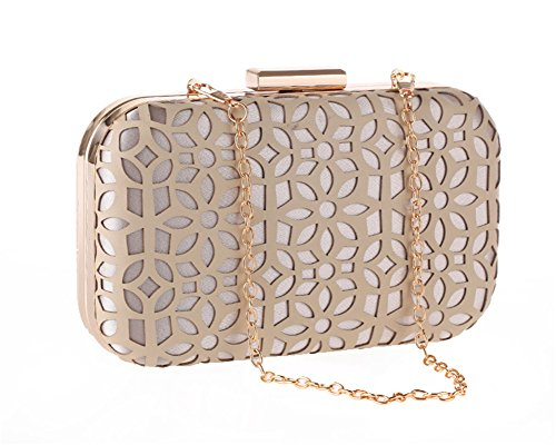 (Womens PU Leather Evening Clutch Grab Bag Formal Occasion Wedding Party Wallet(Nude) )
