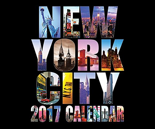 "2017 New York City Photos Calendar NYC Color NY Landmarks Calendar (Large, A) - 13"" X 11"""