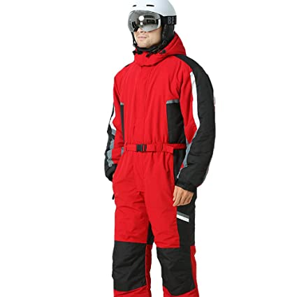 Ski suit Snow Suit Winter Clothing Snow Ski Suit One-piece Coverall Insulated  Suit Male 553f5508649