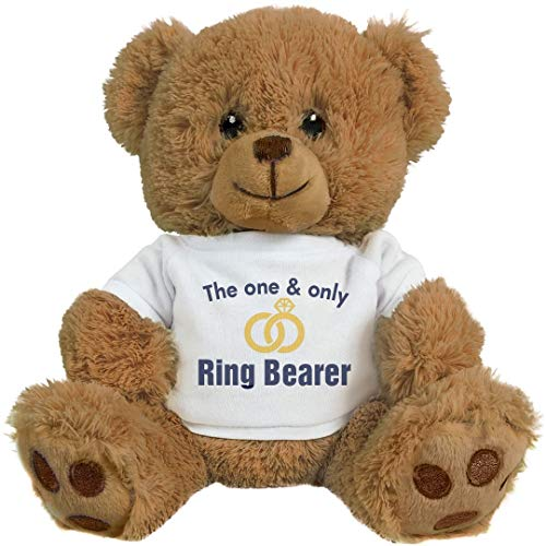 (The Bride's Ring Bearer: 8 Inch Teddy Bear Stuffed Animal)
