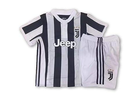 Conjunto Equipacion Camiseta Jersey Futbol Juventus Paulo Dybala 21 Replica Autorizado Talla de Niño (2