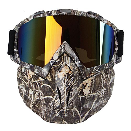 KOBWA Motorcycle Goggles Mask, Windproof Motorcycle Goggles with