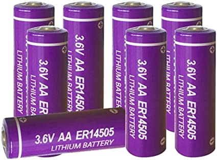 Amazon Com 3 6v Aa Size Lithium Battery Er14505 For Home Alarm System Sensor 8 Pack Health Personal Care