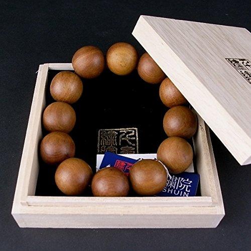 千糸繍院 真正印度(インド)白檀(ビャクダン/サンダルウッド)ブレスレット/腕輪念珠数珠 20mm丸珠 3サイズ (S/10珠) B00PSOXKJ6 S/10珠 S/10珠
