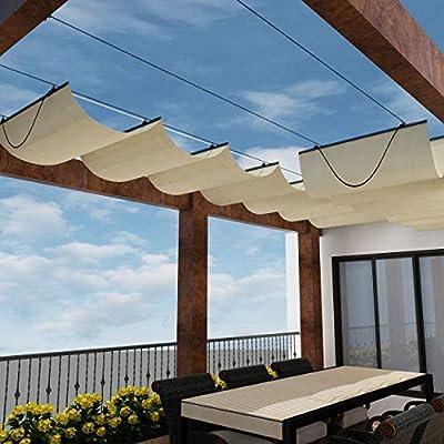 Windscreen4less Toldo de pérgola retráctil con Cable Deslizante ...