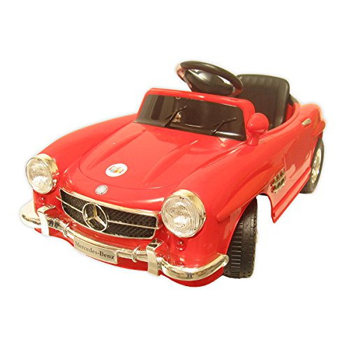 Joy Riders Mercedes Benz Classics Sedan Ride On, Red