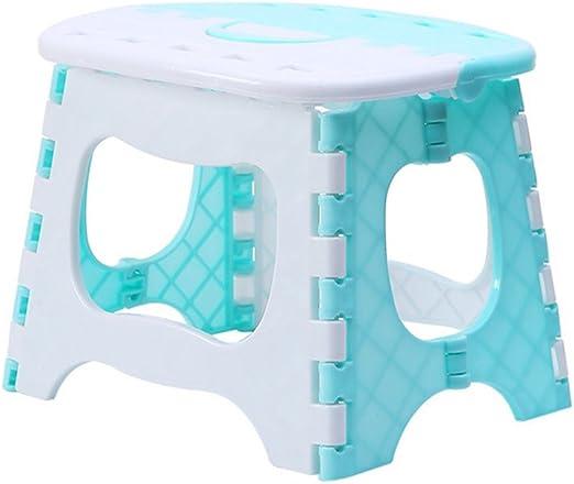 Vorcool - Taburete plegable de plástico, portátil, para casa infantil, baño, jardín, cocina, salón (azul): Amazon.es: Hogar