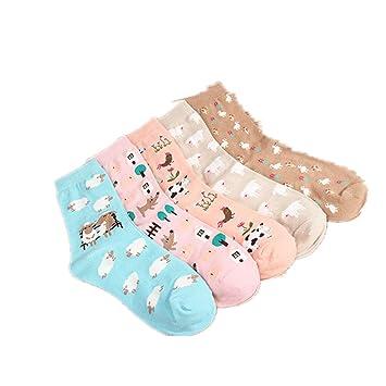 Women Cute Cartoon Socks Casual Cotton Animal Pattern Crew Novelty Girls Socks