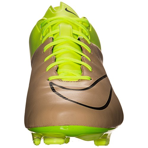 Nike Nero Uomo Scarpe Oro Verde Veloce volt da Canvas Mercurial FG II Calcio Lthr Black HHrqvx