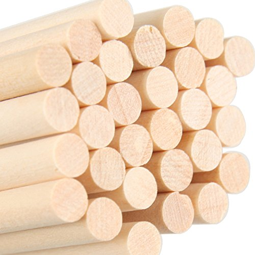 90PCS 6inch Nature Colorful Wooden Round Popsicle Stick Kids Hand Crafts Art Ice Cream Lolly Cake Sticks DIY Making Funny Hot Tools (Nature Wood)