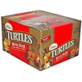 TURTLES BITE SIZE PECANS/CHOCOLATE/CARAMEL BARS 0.42 oz Each ( 60 in a Pack )