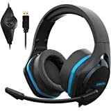 Jeecoo Xiberia V22 Gaming Headset for PC- Deep Bass 3D Surround Sound- USB Headphones with Noise Cancelling Microphone…