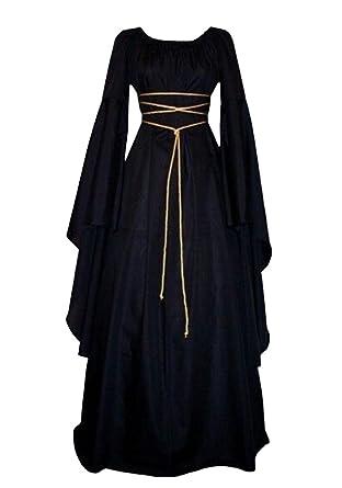 Misassy Womens Renaissance Medieval Irish Victorian Retro Gown Black Small  sc 1 st  Amazon.com & Amazon.com: Misassy Womens Renaissance Costumes Medieval Irish Over ...