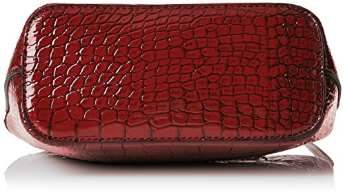 SwankySwansAlex Croc Patent Leather Shoulder Bag Red - Borsa a tracolla donna Red (Red)